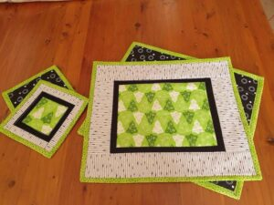 modern quilted placemats