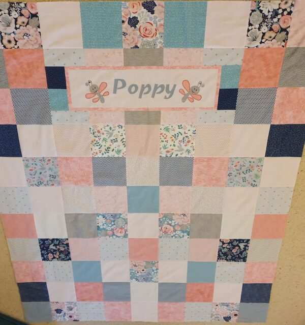 personalised patchwork quilt