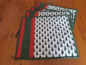washable quilted placemats