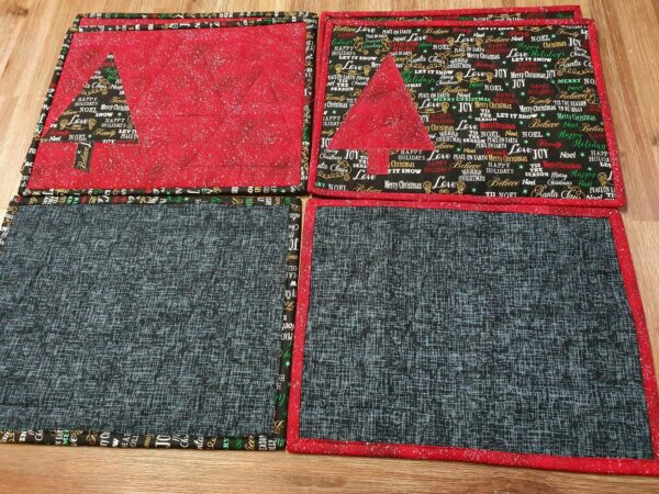 Mixed Red and Black Christmas Placemats