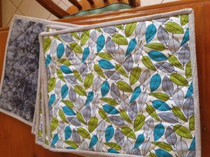 Every Day Leaf Placemats with Grey binding