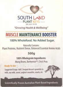 Muscle Maintenance Booster label