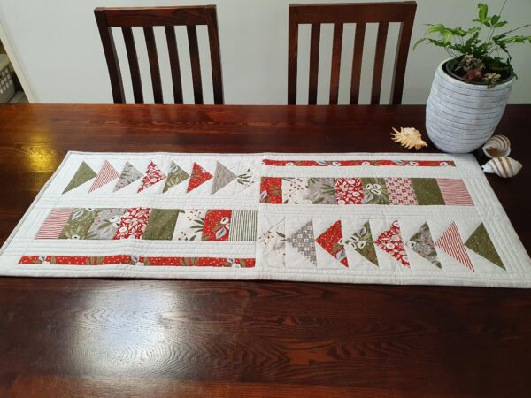 Christmas Morning Squares and Triangles Table Runner